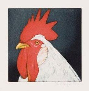 Tierköpfe - Gockel rot