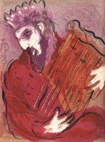 David mit der Harfe