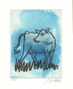 Die blaue Kuh (seitwärts blickend)
