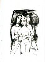 Drei Mädchen mit Mond