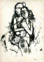 Zwei Mädchen im Sessel