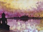 die Farbe der Lotusblüten. 455 x 61 cm