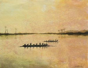 Holzschnitt Wasserland 3 .format 48 x 62 cmJPG