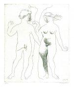 Hommage an Dürer. Adam und Eva.
