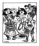 Studienblatt mit singenden Kindern