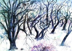 Baumlandschaft im Winter