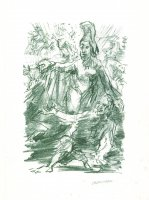 Die Odyssee, 13. Gesang, Verse 344-358: Athene zerstreut die Nebel und enthüllt Ithaka